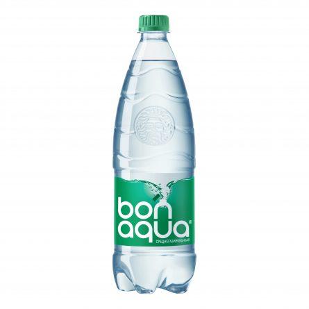 Вода питьевая Бонаква среднегазированная 1л