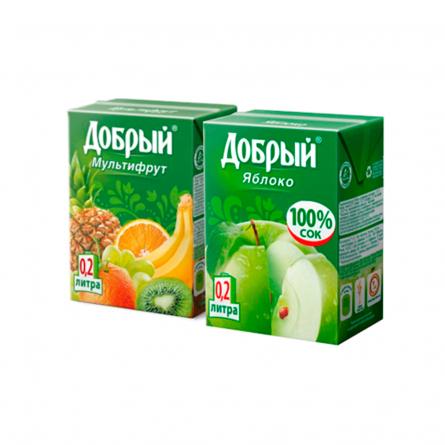 Сок Добрый в ассорт. 0,2л